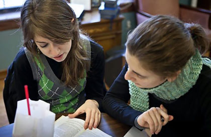 2 Seminary Girls studying together