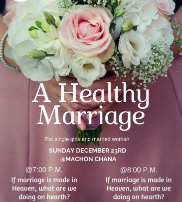A Healthy Marriage