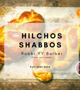 Hilchos Shabbos Rabbi Barber