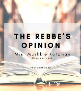 The Rebbe's Opinion